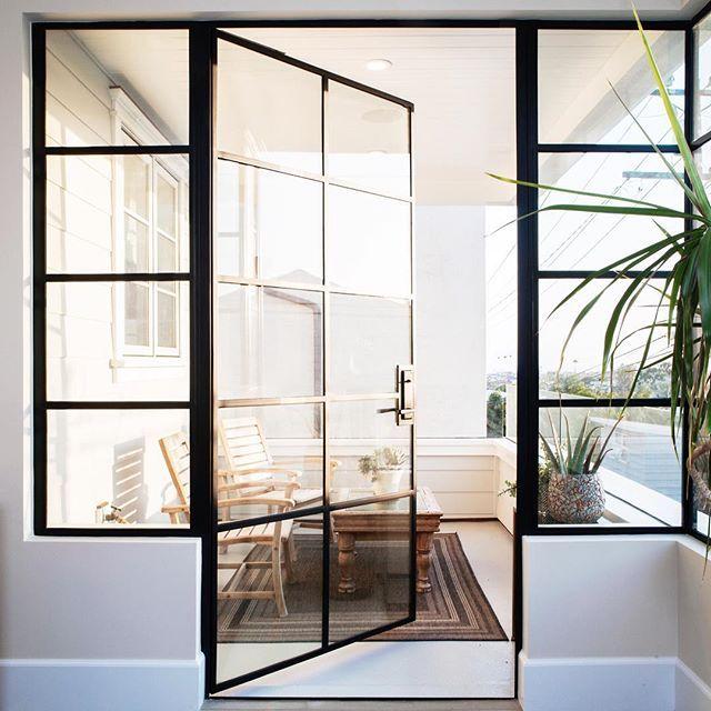 A Steel Door At Golden Hour Is Just The Dreamiest Brandonarchitects Balcony Doors Glass Balcony External Glass Doors