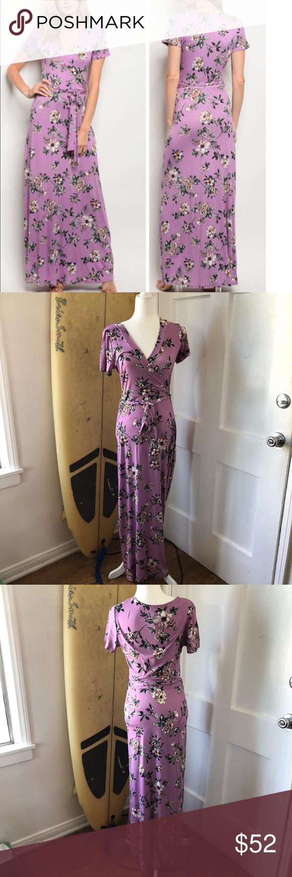 Orchid Lavender Stretchy Maxi Dress Dress Size Chart Women Long Sleeve Maternity Dress Maxi Dress [ 1740 x 580 Pixel ]