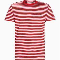 Photo of Calvin Klein Gestreiftes, schmal geschnittenes T-Shirt aus Bio-Baumwolle Xl Calvin Klein