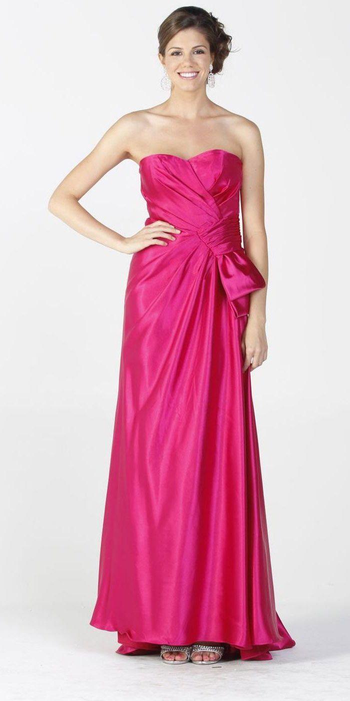 CLEARANCE LIMITED STOCK - Fuchsia Maxi Long Satin Formal Dress ...