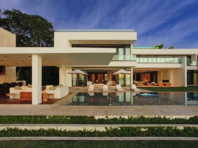 Modern Architecture Miami a superb, modern home in miami beach, florida | outdoor areas