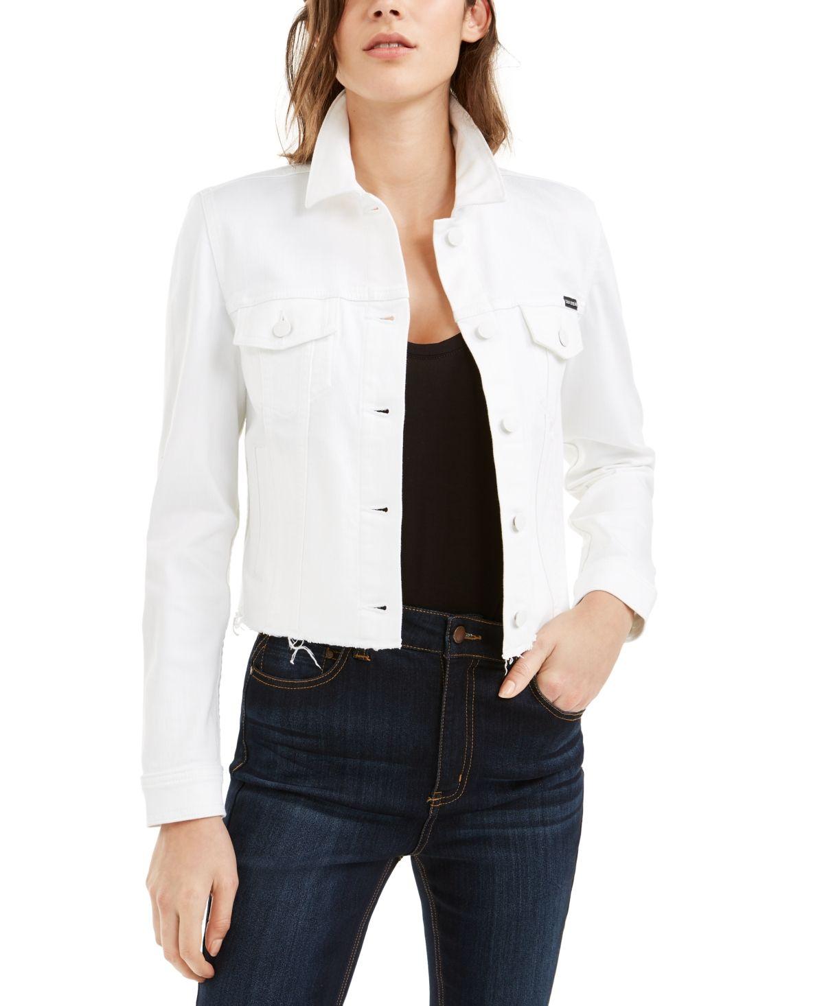 Calvin Klein Jeans White Jean Jacket White White Jean Jacket Jean Vest Outfits Calvin Klein Jeans [ 1466 x 1200 Pixel ]