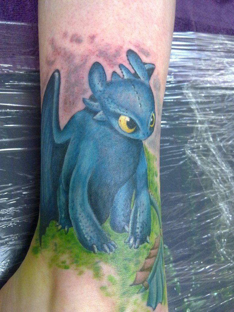 Toothless Night Fury Tattoo Toothless Tattoo Cute Tattoos Dragon Tattoo Designs