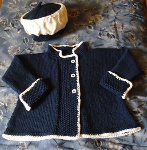 kids girls strippy jacket hat and blanket knitting pattern 99p