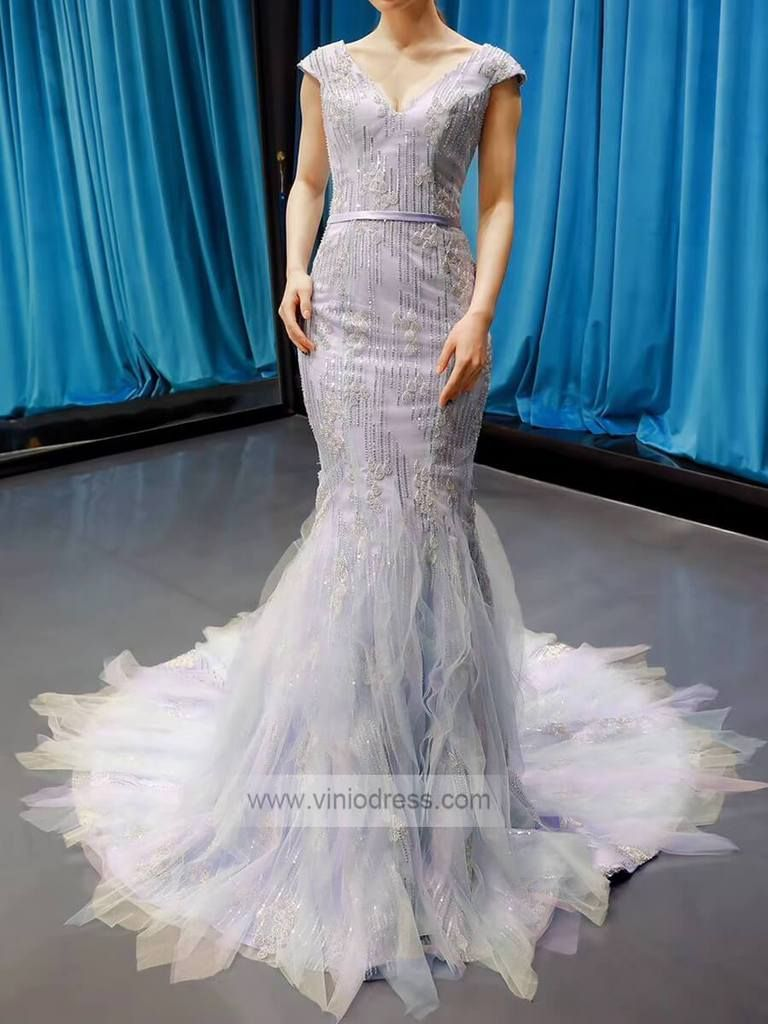 Cap Sleeve Periwinkle Mermaid Prom Dresses Beaded Formal Dress Fd1249 Beaded Formal Dress Mermaid Prom Dresses Ball Gowns Prom [ 1024 x 768 Pixel ]