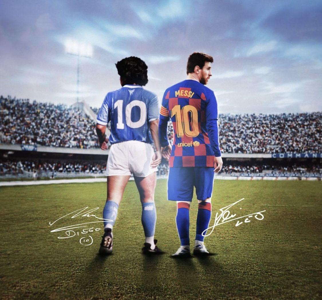 Maradona Messi Messi Maradona Messi Diego Maradona