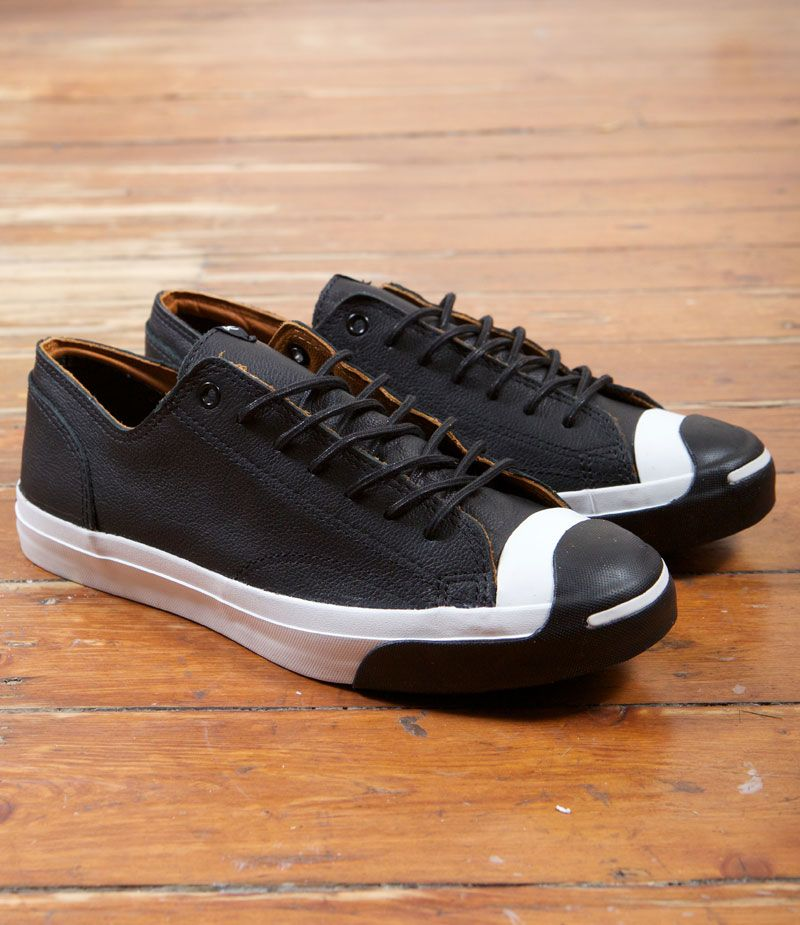 2d60d3c3c8c1 Converse Jack Purcell LTT Oxford x Denham  Scissor Face  Black Leather