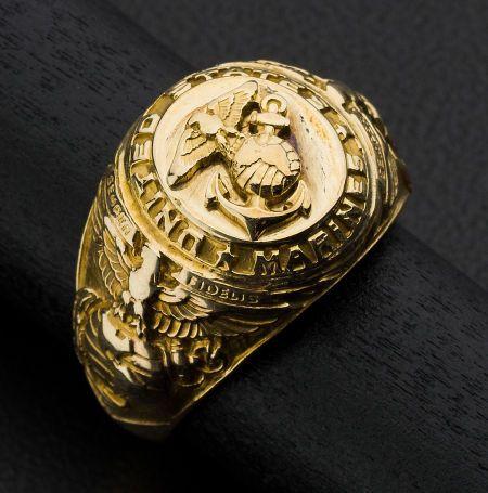 Gold Marines Ring Heritageauction Bid On Fine Jewelry