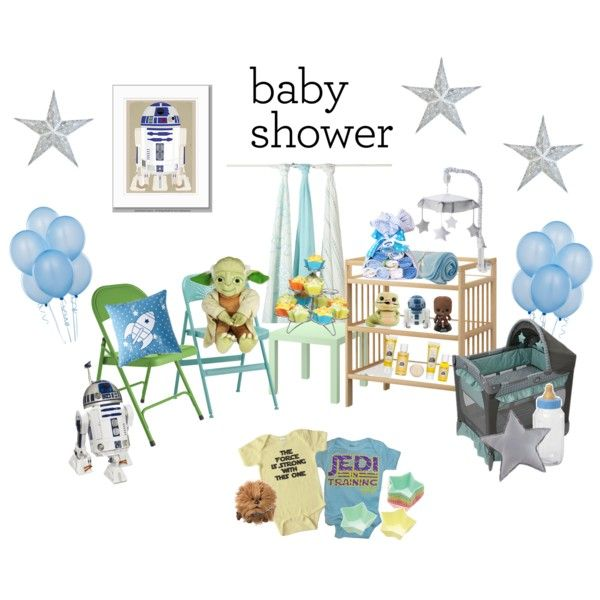 Baby Shower   Boy (Star Wars Theme) By Kamidu On Polyvore Featuring  Interior,