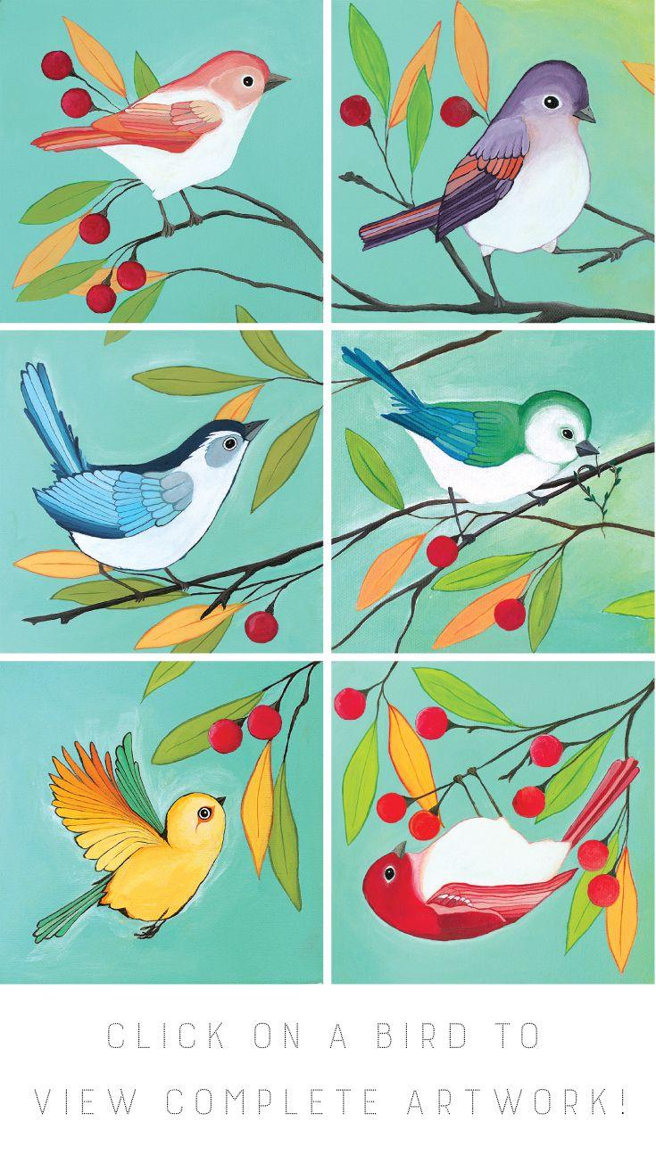 set of 18 printable birds gallery wall art - Printable Bird Pictures 2