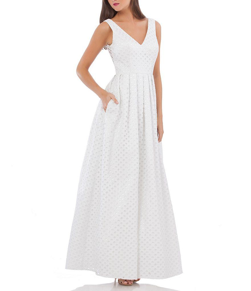 JS Collections Eyelet Ball Gown from Dillards | Wedding—Dresses ...