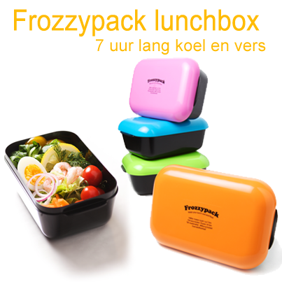 De Frozzypack houdt uw lunch tot 7 uur lang koel en vers door het in de deksel geïntegreerde koelelement. http://www.kookwinkel.nl/search.asp?q=frozzypack