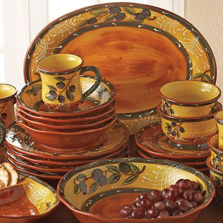 French Olive Dinnerware Dinnerware Dish Sets