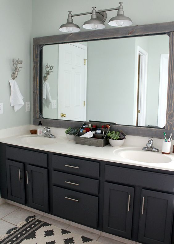 Master Bath Remodel Before And After Double Sinks