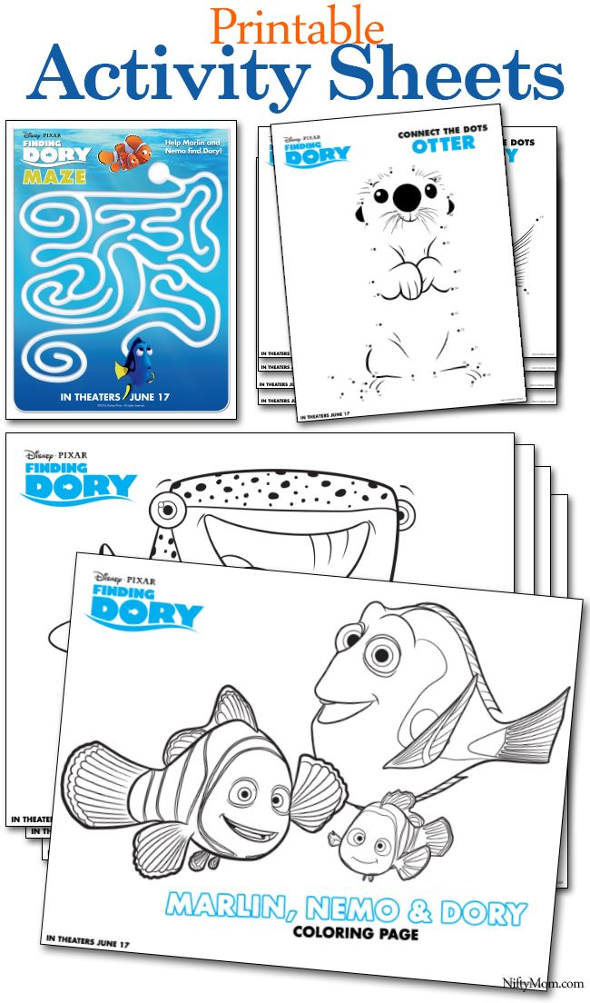 Explore Kids Coloring Sheets Adult And More Free Printable Finding Dory Activity