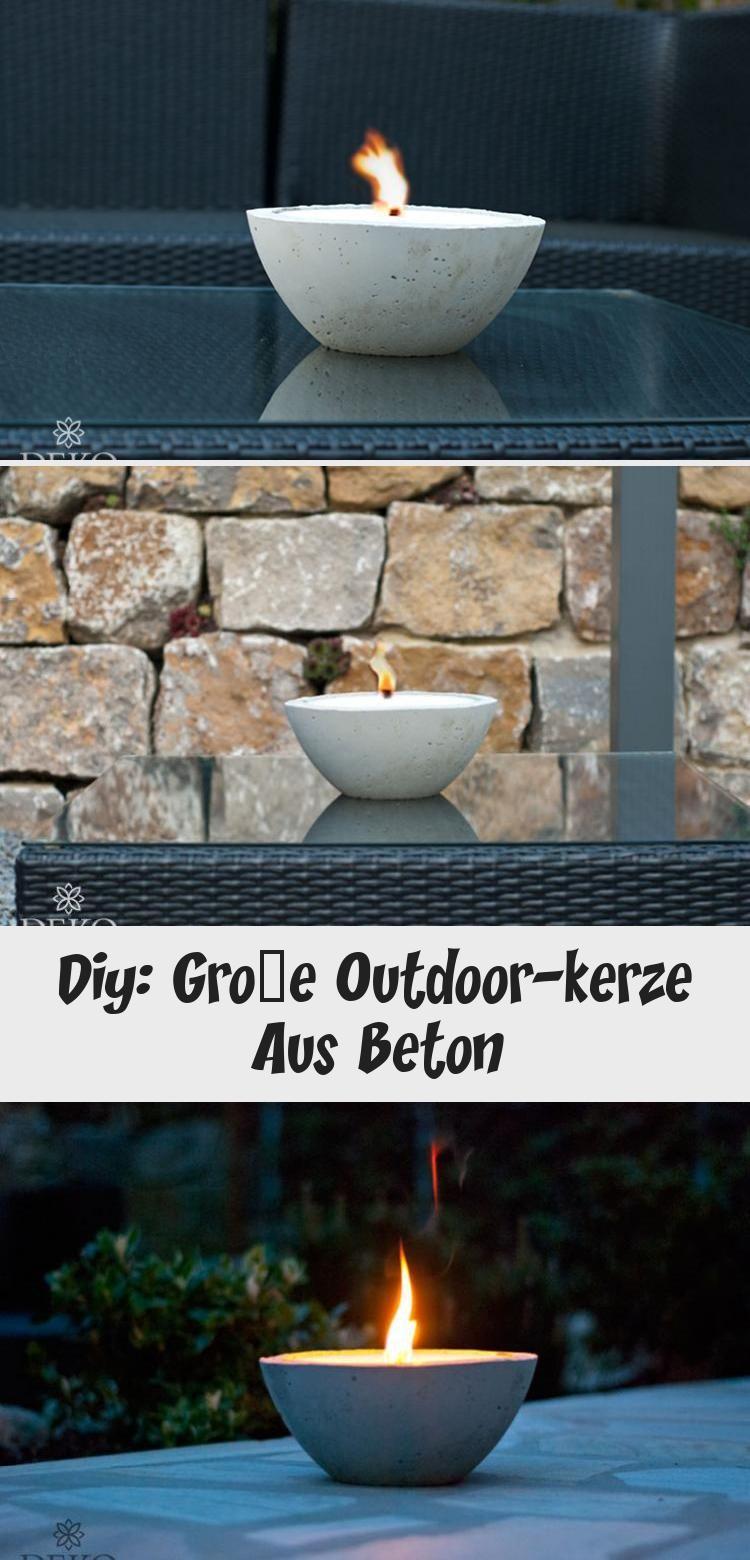 Diy Grosse Outdoor Kerze Aus Beton Dekoration In 2020 Outdoor Decor Decor Outdoor