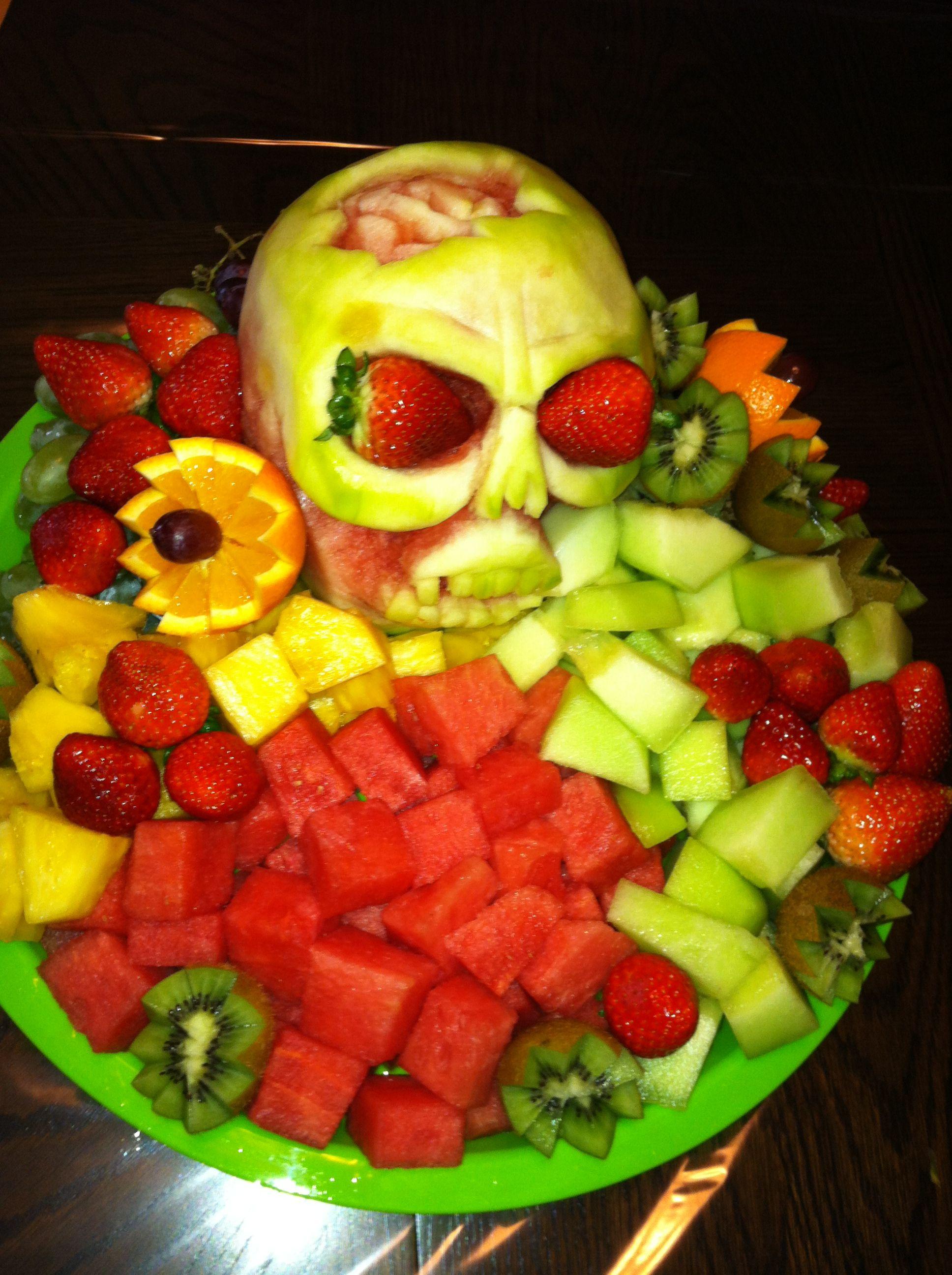 Halloween fruit carving  Food carving, Fruit carving, Halloween fruit