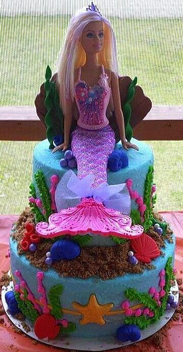 Barbie Mermaid Cake Cakes by Carrie Barbie Cake Ideas Barbie