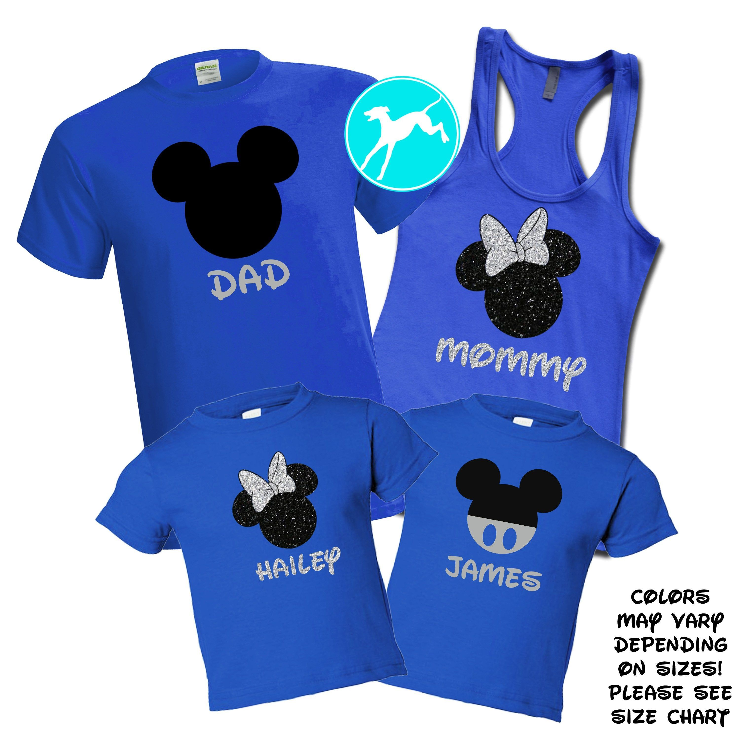 49d44b75 Mickey Head Royal Blue Family Set in 2019 | Disney | Disney shirts ...