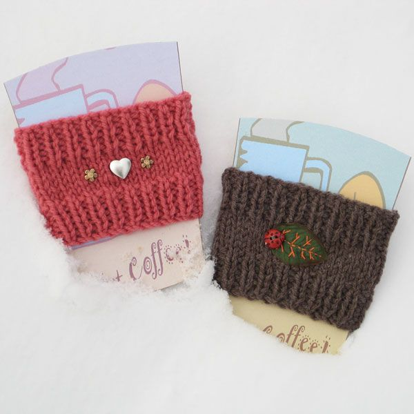 Knit A Coffee Cup Sleeve Pinterest Coffee Cup Sleeves Xmas And