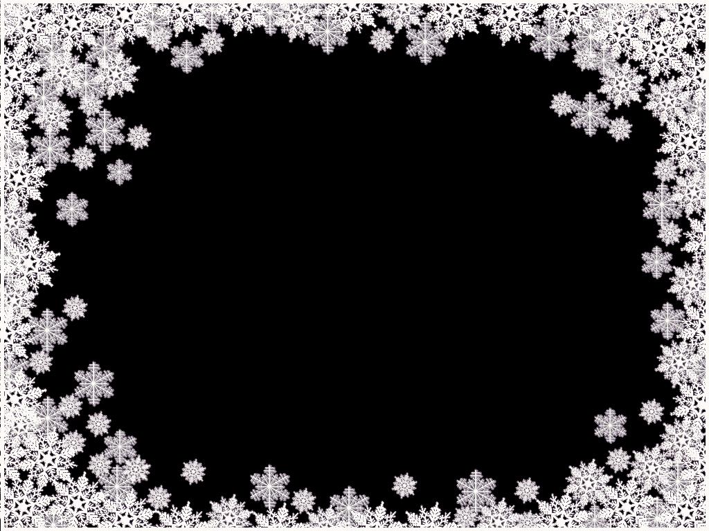 Snowflakes border frame PNG Snowflake Border Frame It