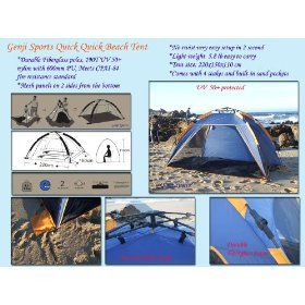 Genji Sports Instant Push Up Beach Tent Sun Shelter $54.72  sc 1 st  Pinterest & Genji Sports Instant Push Up Beach Tent Sun Shelter $54.72 ...