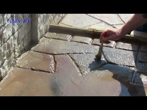 Fußboden Aus Beton Gießen ~ Gartenweg gehweg aus beton in steinoptik selber gießen das ist