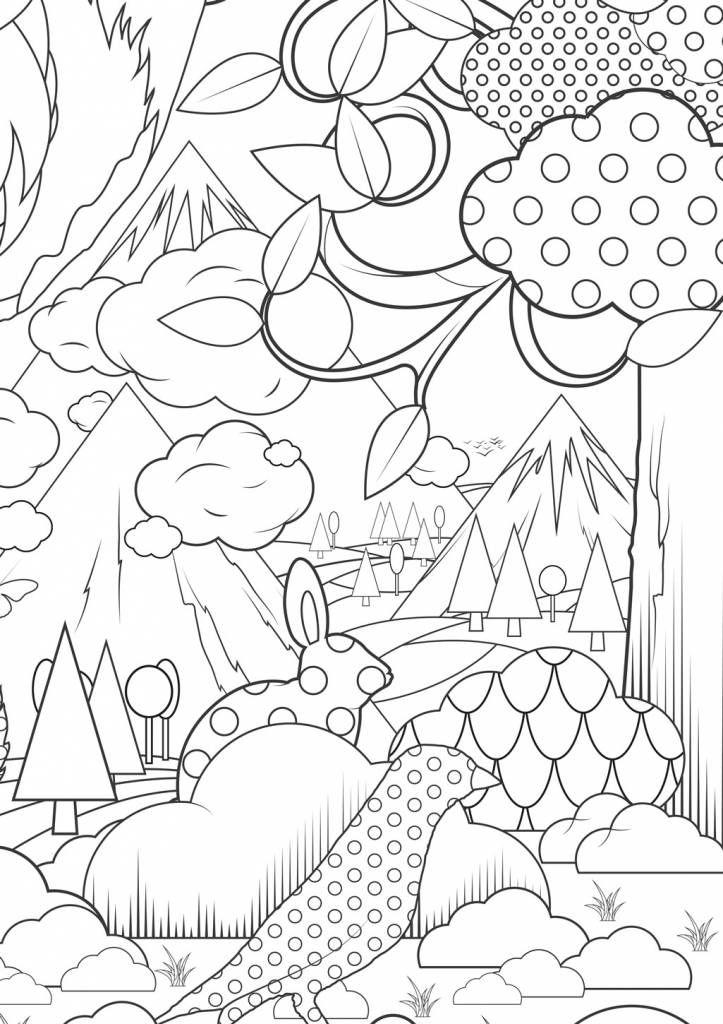 Kek Amsterdam Bild zum ausmalen Im Wald Papier