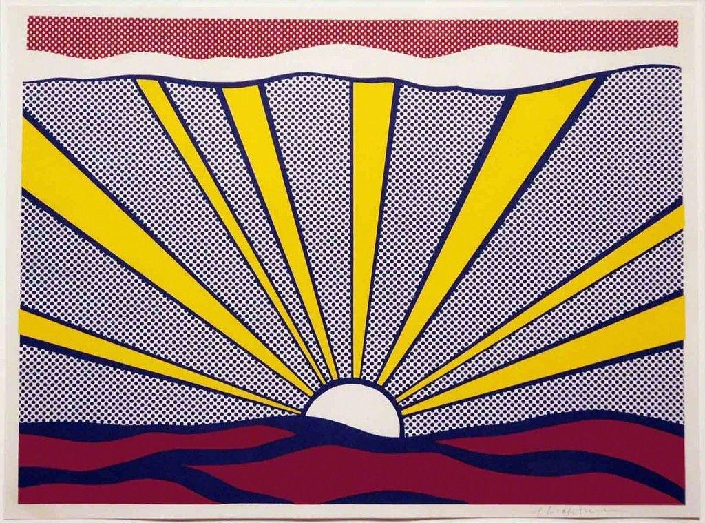 Roy lichtenstein sunrise 1965 leslie sacks gallery - Roy lichtenstein cuadros ...