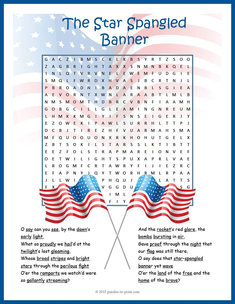 It is an image of Sweet Star Spangled Banner Lyrics Printable