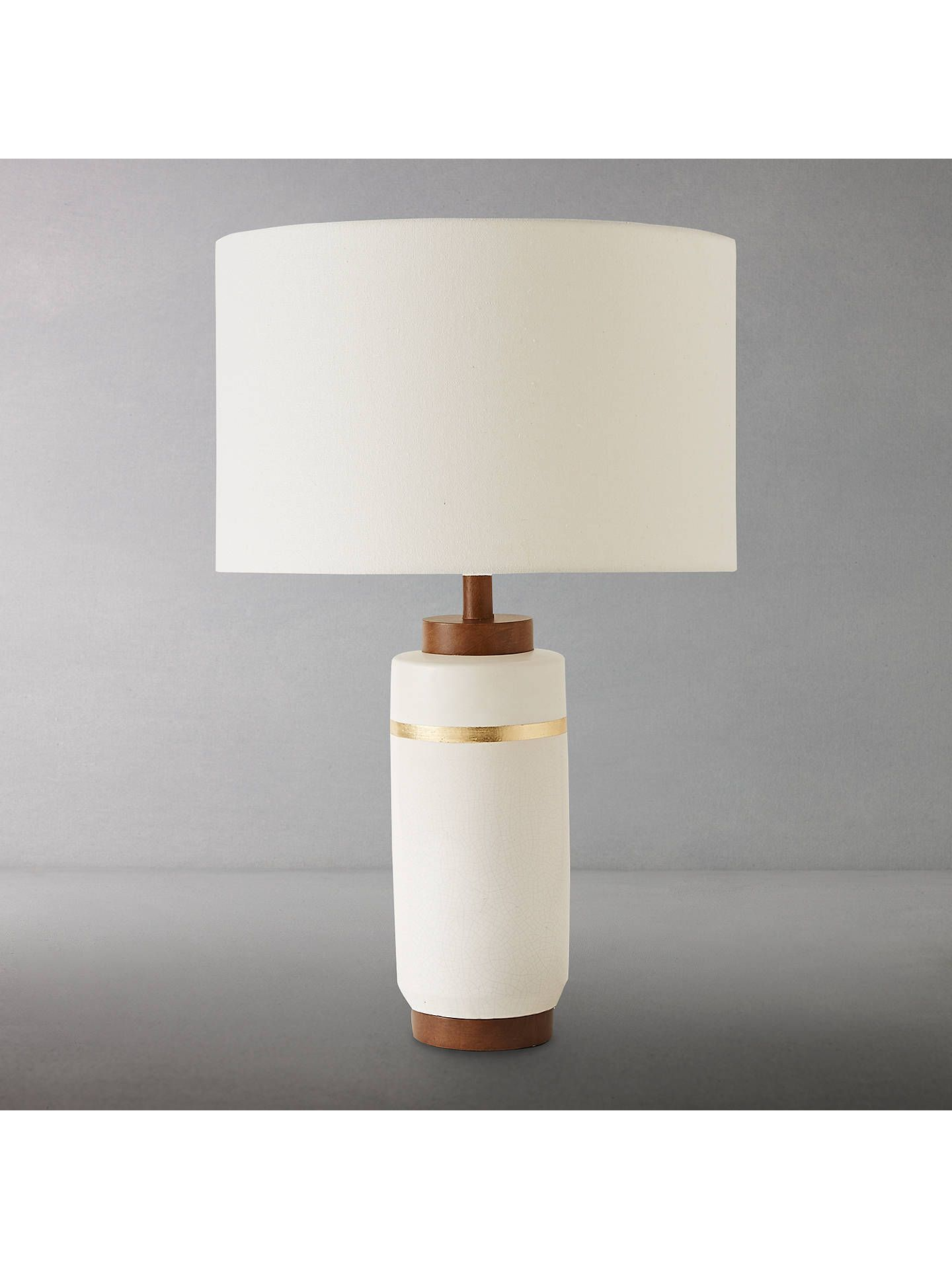 Roar Rabbit For West Elm Crackle Glaze Table Lamp Large White