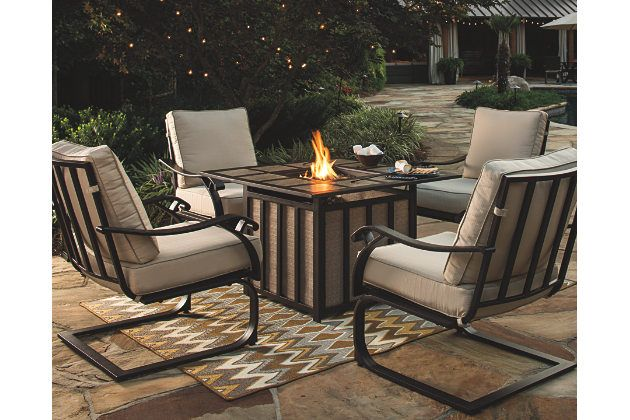Gather Round The Flickering Warmth Of The Wandon Fire Pit Table