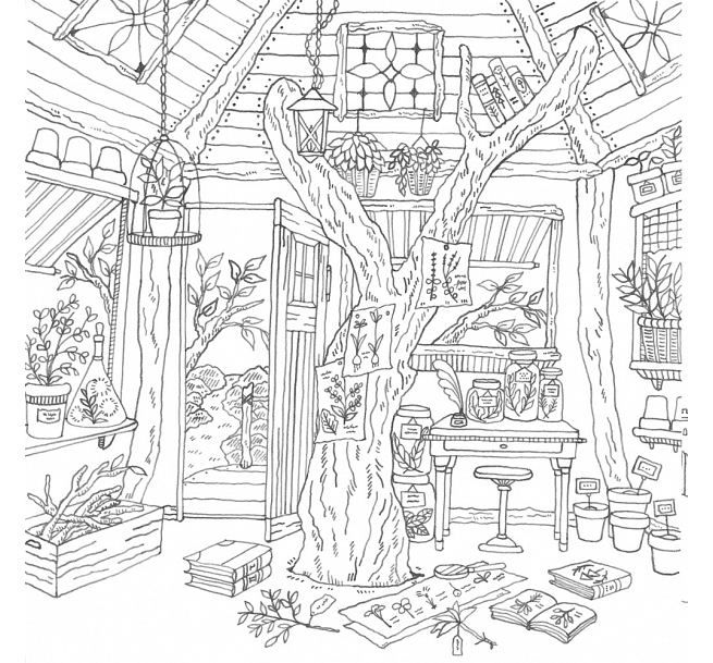 romantic country adult coloring pagescolouring