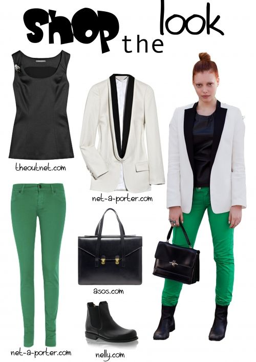 Trousers, Colors and Green on Pinterest