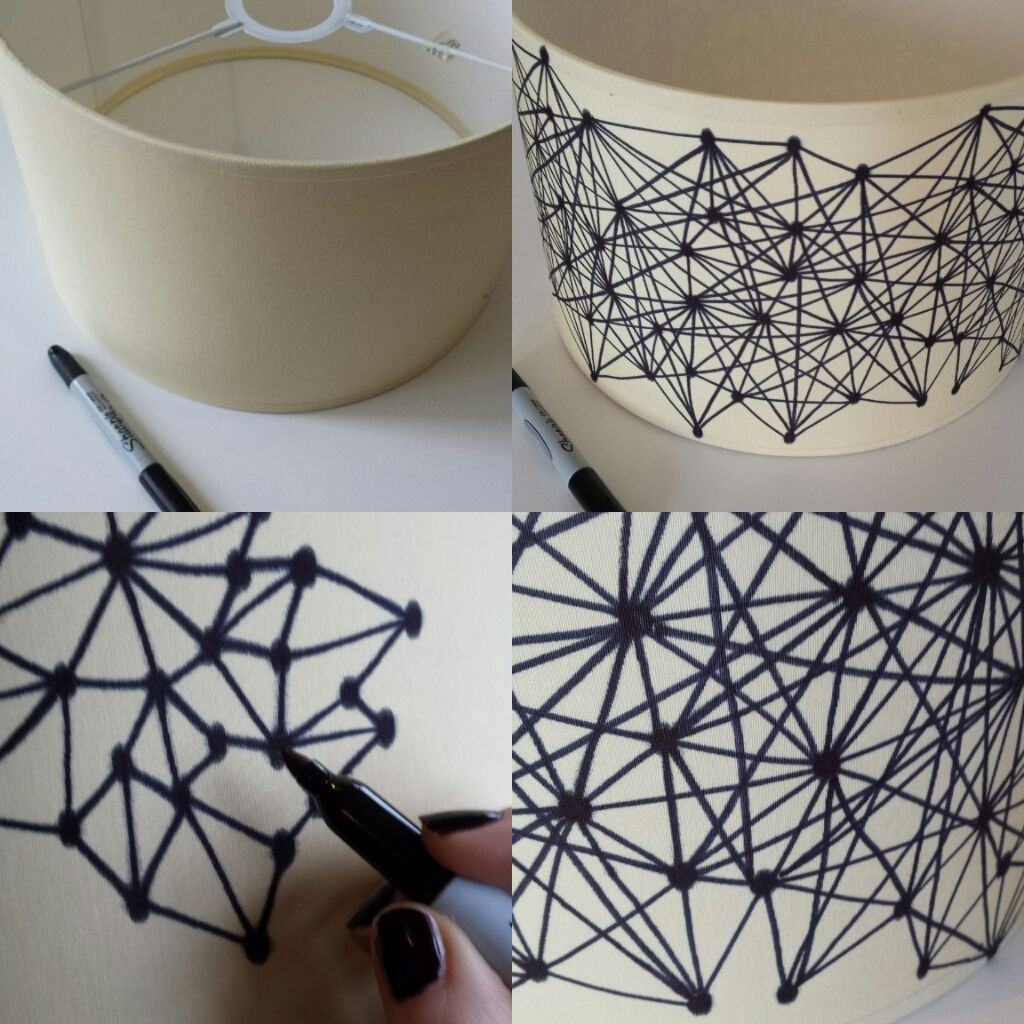 Makery: DIY: Geometric Sharpie Lampshade