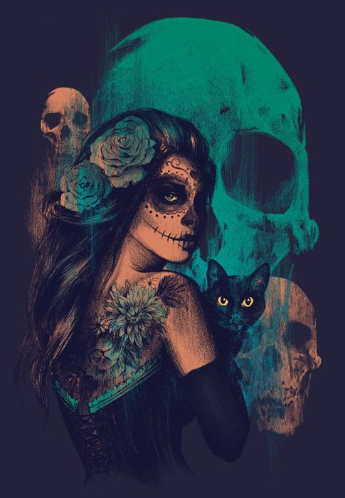 ☠ the Lady & the Cat ☠
