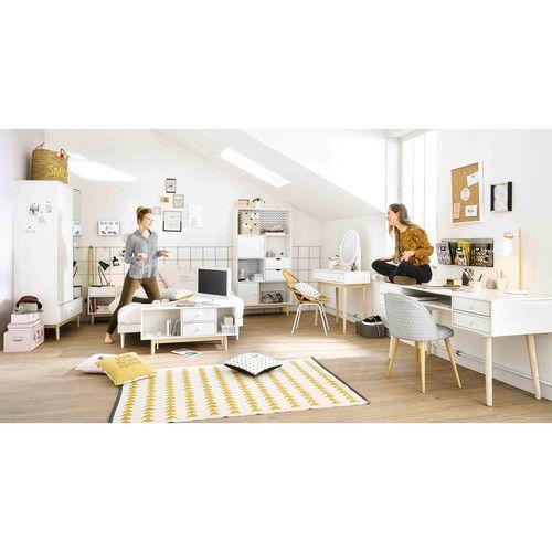Panca letto bianco in legno 140 x 190 cm