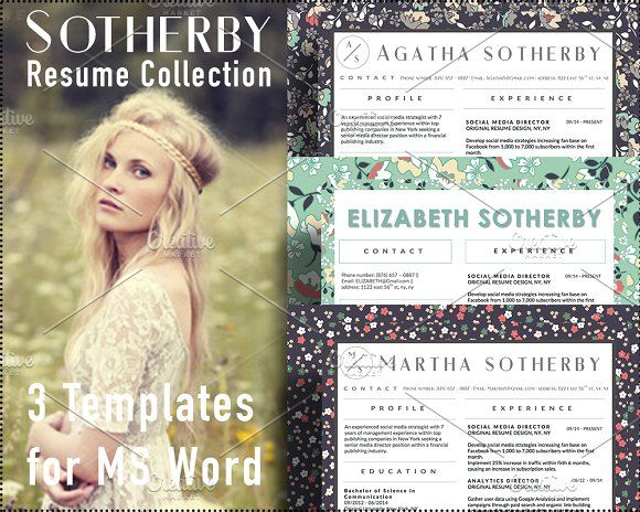 Sotherby Resume CV Collection Word by Stand Out Shop on - stand out resumes