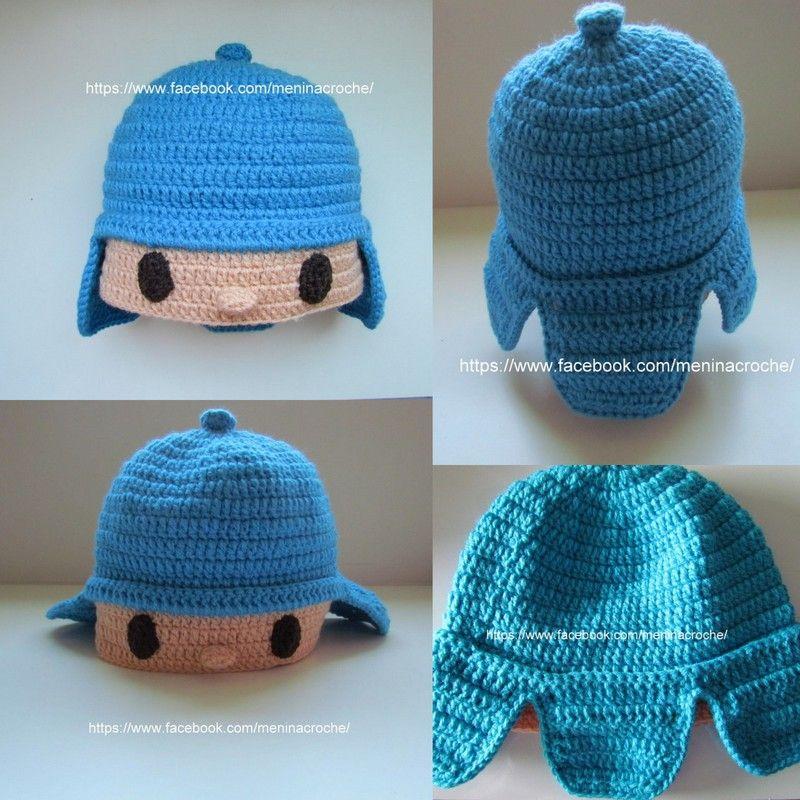 Touca inspirada no Pocoyo Touca De Croche 11104e9ecb8