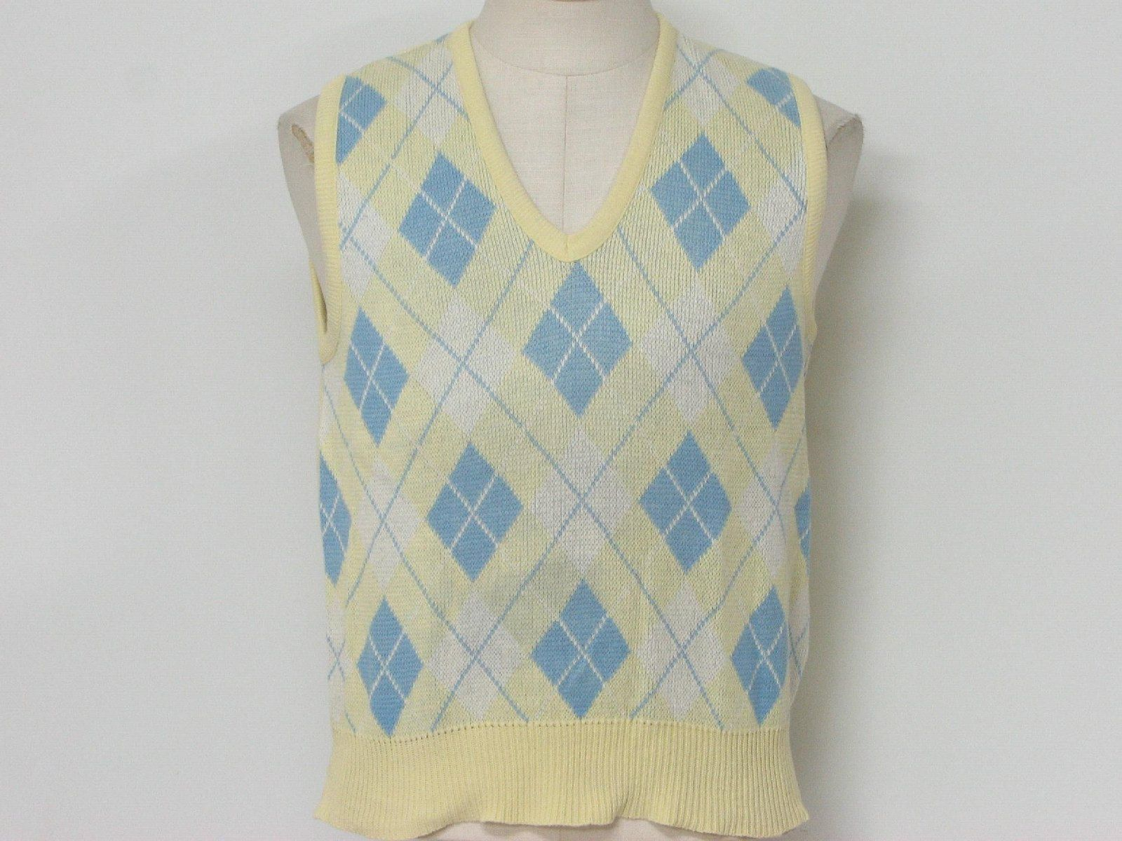 Retro 1980's Sweater (Desert Palm) : 80s -Desert Palm- Mens yellow ...