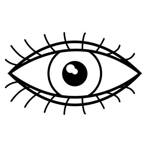 Resultat d'imatges de ojo dibujo animado