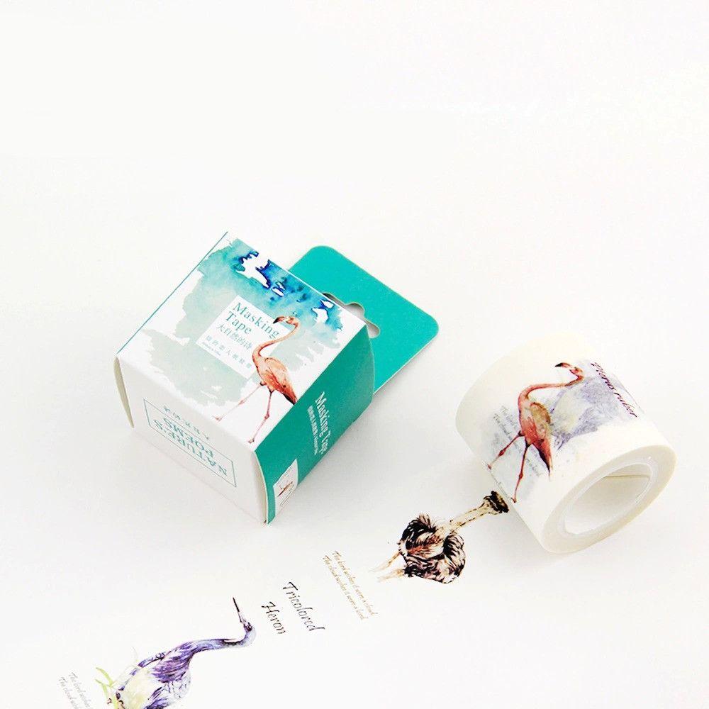 Scotch Decorative Masking Tape Japanese Washi Masking Tape 40Mm * 10M Natural Poem Diy Decorative