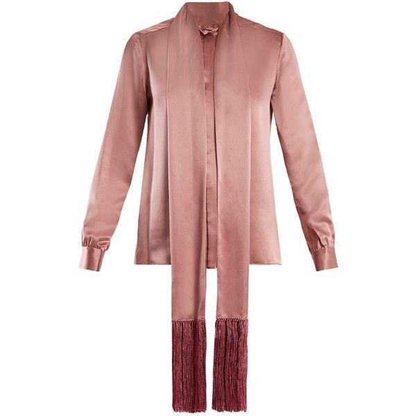 2018 Cheap Price Fringe-trimmed silk-satin blouse Hillier Bartley Sale Online Cheap Sale 100% Authentic Wholesale Online Limited Edition Sale Online Du9u0VN