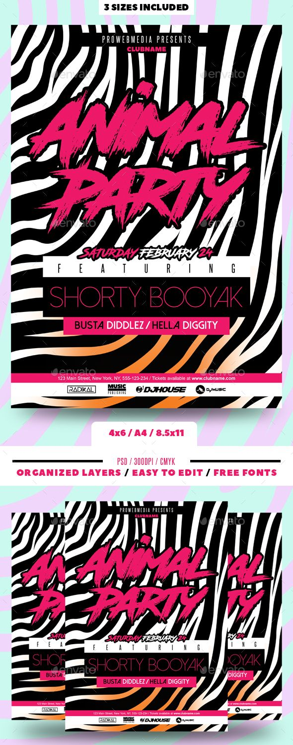 party flyer clubs parties events flyer templates pinterest