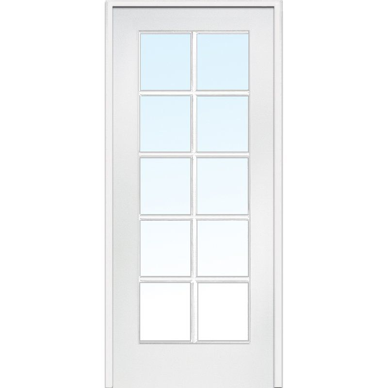 Mdf 1 Panel Primed Interior French Door Prehung Interior Doors Doors Interior Glass French Doors