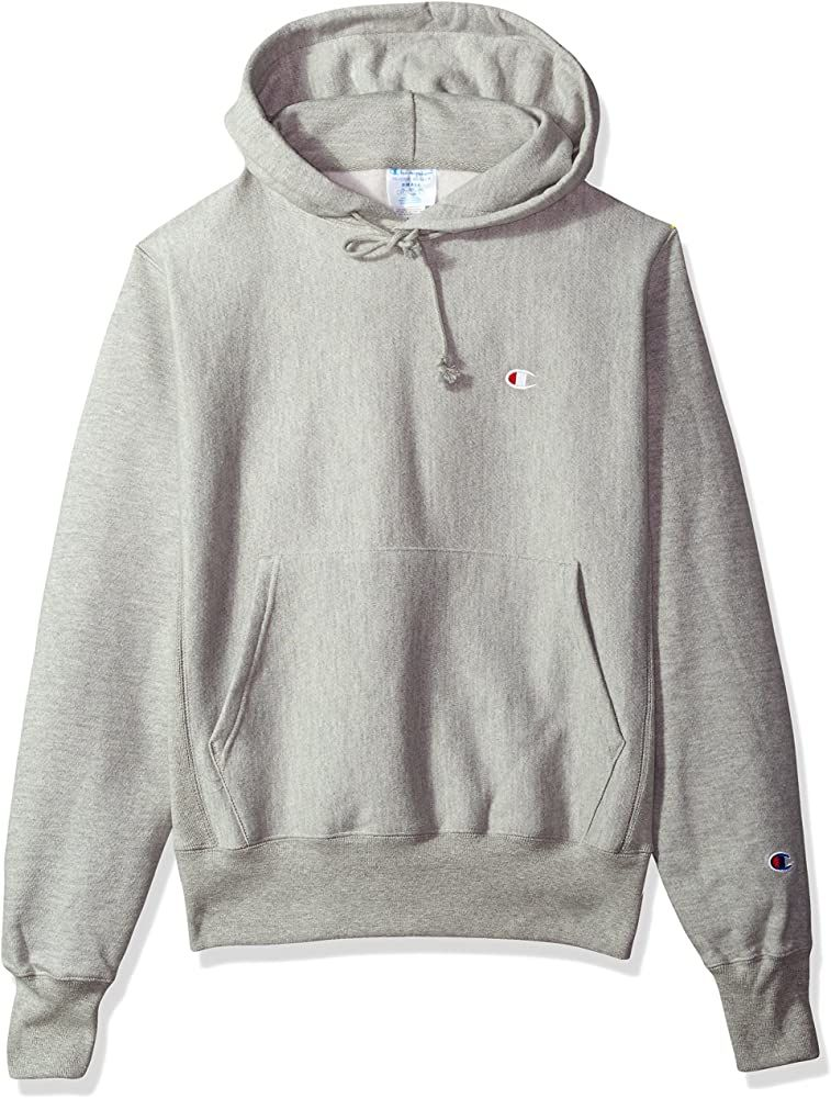 Amazon Com Champion Life Men S Reverse Weave Pullover Hoodie Oxford Gray Left Chest C Logo Large Clothing In 2020 Best Hoodies For Men Hoodies Vintage Hoodies