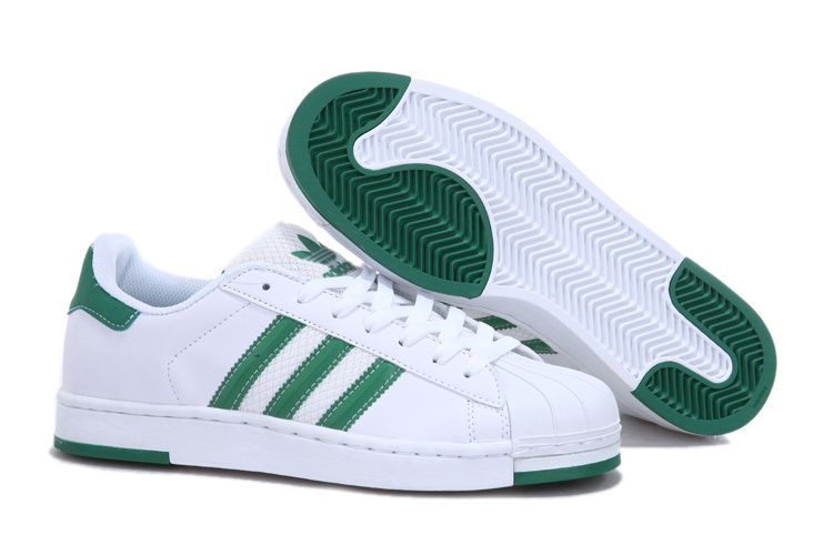 adidas superstar 2 white green