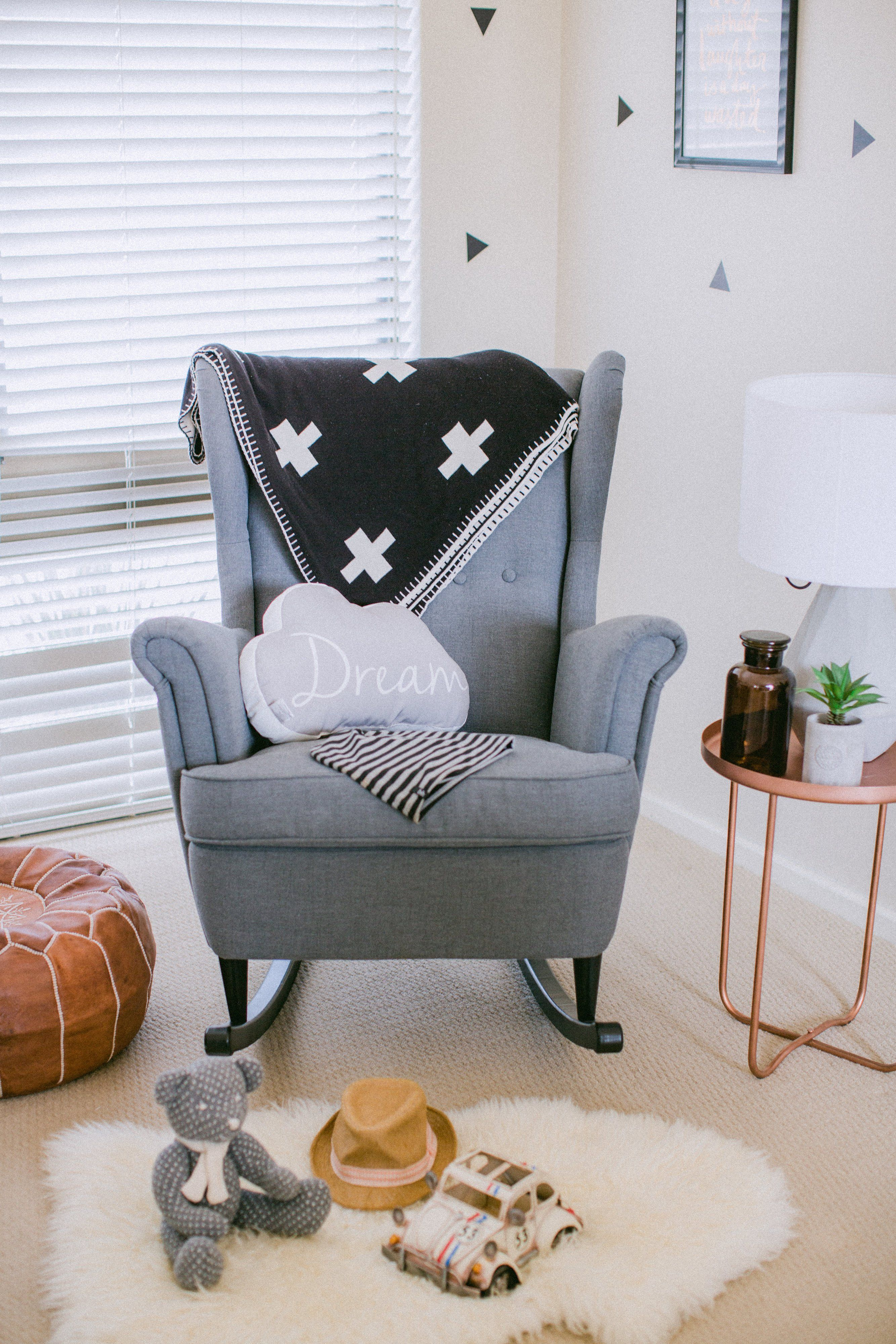 This Handcrafted Kit Will Convert The Beautiful Ikea Strandmon Wingback Armchair Into A Delightfully Cosy Stylish And Affordable Rocking Chair