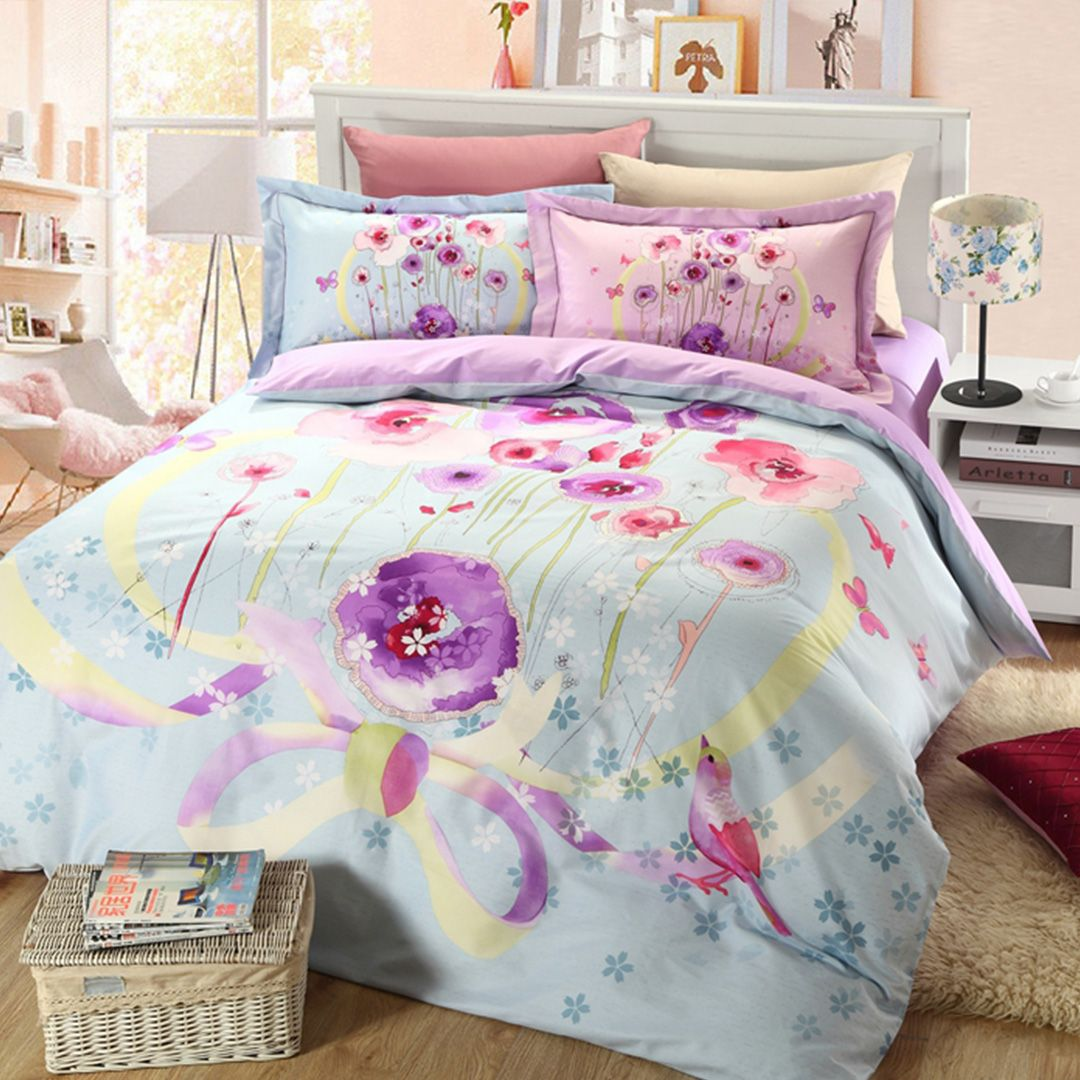 cover bedding rustic cotton american product style duvet comforter floral and country bed print winlife set collections sets flowers