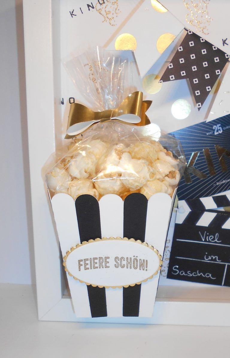 Viel Spaß im Kino! – Gutschein mal anders   Kleine Stempelmiez – Basteln aus Liebe #kinogutscheinbasteln